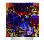Flower Of Creation  Shower Curtain by Joseph Mosley