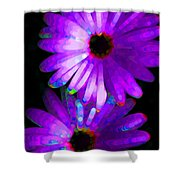 Flower Study 6 - Vibrant Purple by Sharon Cummings Shower Curtain by Sharon Cummings