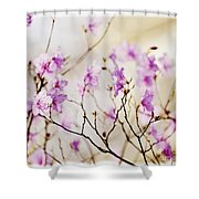 Flowering Rhododendron Shower Curtain by Elena Elisseeva