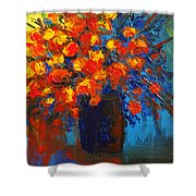 Flowers Are Always Welcome IIi Shower Curtain by Patricia Awapara
