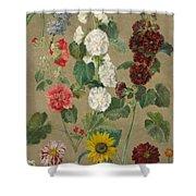 Flowers Shower Curtain by Ferdinand Victor Eugene Delacroix