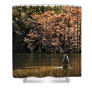 Fly Fishing  Shower Curtain by Tamyra Ayles