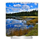 Fly Pond In The Adirondacks II Shower Curtain by David Patterson