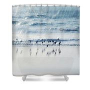 Flying Free Shower Curtain by Jenny Rainbow