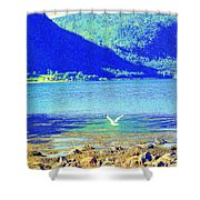 flying low Shower Curtain by Hilde Widerberg