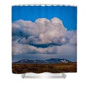 Flying Rain Spirit Shower Curtain by Omaste Witkowski