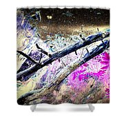Flying Trees Shower Curtain by Hilde Widerberg