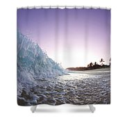 Foam Wall Shower Curtain by Sean Davey