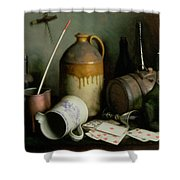 Foes In The Guise Of Friends Shower Curtain by Edward George Handel Lucas