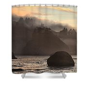 Fog Over Trinidad Shower Curtain by Adam Jewell