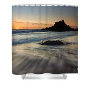Fogarty Tides Shower Curtain by Mike  Dawson