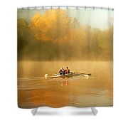 Foggy Morning On The Chattahoochee Shower Curtain by Darren Fisher