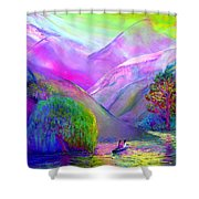 Following the Flow Shower Curtain by Jane Small