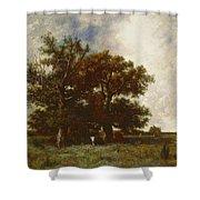 Fontainebleau Oak Shower Curtain by Jules Dupre