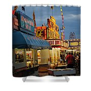 Food Court Shower Curtain by Skip Willits
