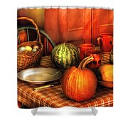 Food - Nature's Bounty Shower Curtain by Mike Savad