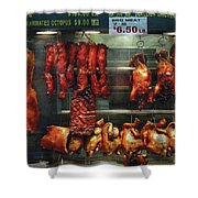 Food - Roast Meat For Sale Shower Curtain by Mike Savad