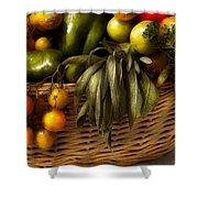 Food - Veggie - Sage Advice  Shower Curtain by Mike Savad