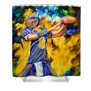 Football I Shower Curtain by Lourry Legarde