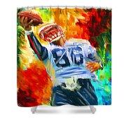 Football II Shower Curtain by Lourry Legarde