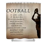Football Shower Curtain by Lori Deiter