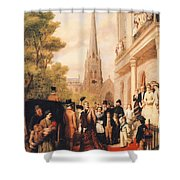 For Better For Worse Shower Curtain by William Powell Frith