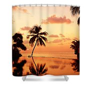 For You. Dream Comes True II. Maldives Shower Curtain by Jenny Rainbow