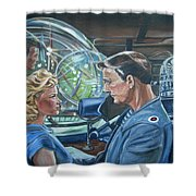 Forbidden Planet Shower Curtain by Bryan Bustard