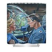 Forbidden Planet Shower Curtain by Bryan Bustard