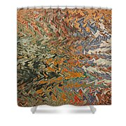 Forces Of Nature - Abstract Art Shower Curtain by Carol Groenen