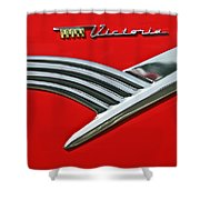Ford Crown Victoria Emblem Shower Curtain by Jill Reger