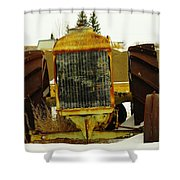 Fordson Tractor Plentywood Montana Shower Curtain by Jeff Swan