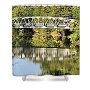 Forest Bridge Shower Curtain by Dan Sproul