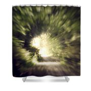 Forest Tunnel Shower Curtain by Wim Lanclus