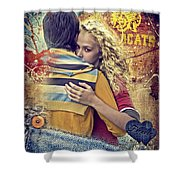 Forever Shower Curtain by Mo T
