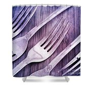 Forks Shower Curtain by Priska Wettstein