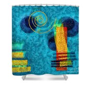 Formes 02b Shower Curtain by Variance Collections