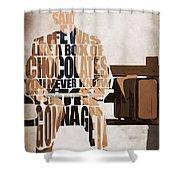 Forrest Gump - Tom Hanks Shower Curtain by Ayse Deniz