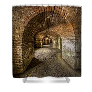 Fort Macomb Arches Vertical Shower Curtain by David Morefield