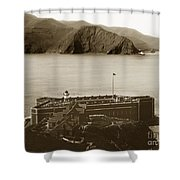 Fort Point And The Golden Gate San Francisco Circa 1890 Shower Curtain by California Views Mr Pat Hathaway Archives