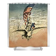 Forward America Shower Curtain by Aged Pixel