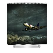 Foul Weather Fedex Shower Curtain by Marvin Spates
