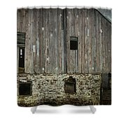 Four Broken Windows Shower Curtain by Joan Carroll
