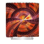 Fractal - Abstract - The Constant Shower Curtain by Mike Savad