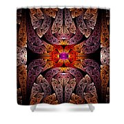 Fractal - Aztec - The Aztecs Shower Curtain by Mike Savad