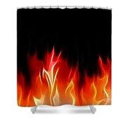Fractal Flames Shower Curtain by Antony McAulay