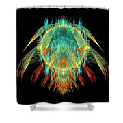 Fractal - Insect - I Found It In My Cereal Shower Curtain by Mike Savad