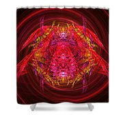 Fractal - Insect - Jeweled Scarab Shower Curtain by Mike Savad