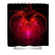 Fractal - Science - The Neural Network Shower Curtain by Mike Savad