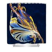 Fractal - Sea Creature Shower Curtain by Susan Savad